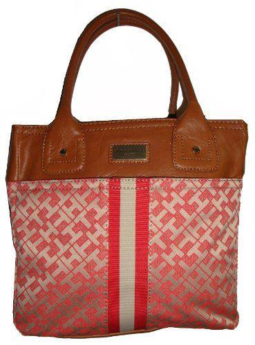 Tommy Hilfiger Women's Tote Handbag, Small Orange Alpac)