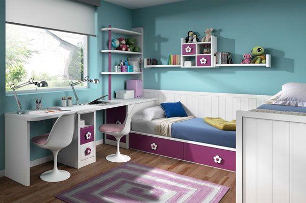 #Dormitorio #juvenil con #cama nido