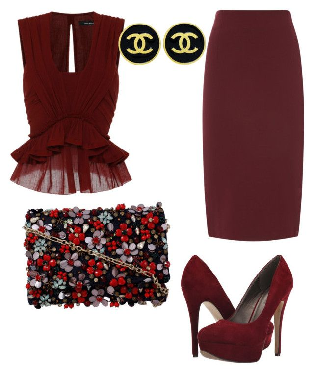 """""""Untitled #568"""" by mchlap on Polyvore featuring Isabel Marant, Michael Antonio, Chanel and Oscar de la Renta"""