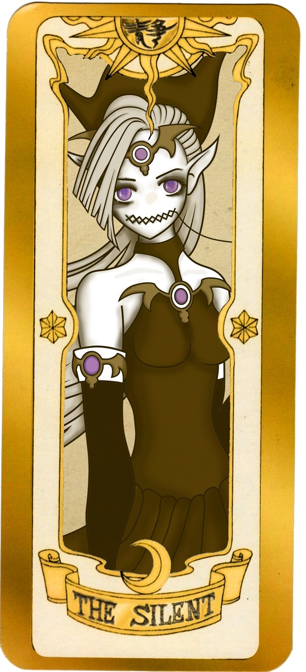 """My illustration of a Clow Card """"The Silent"""""""