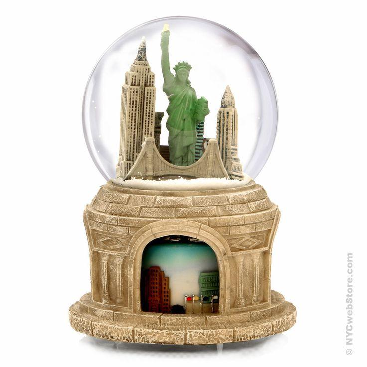 NYCwebStore.com - Rotating NYC Skyline Snow Globe, $39.99 (http://www.nycwebstore.com/rotating-nyc-skyline-snow-globe/)