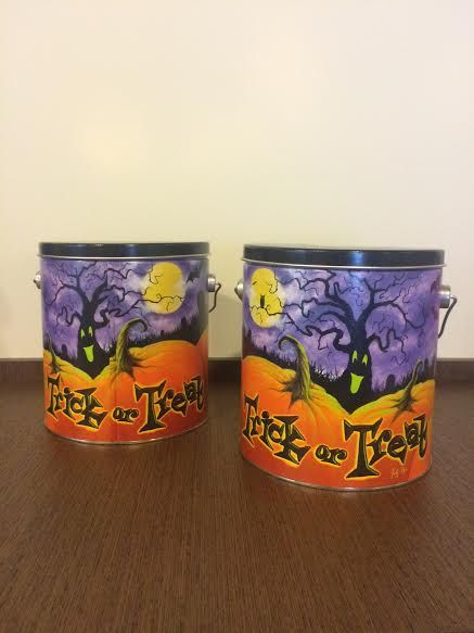 Help turning these popcorn tins into cute storage | Hometalk