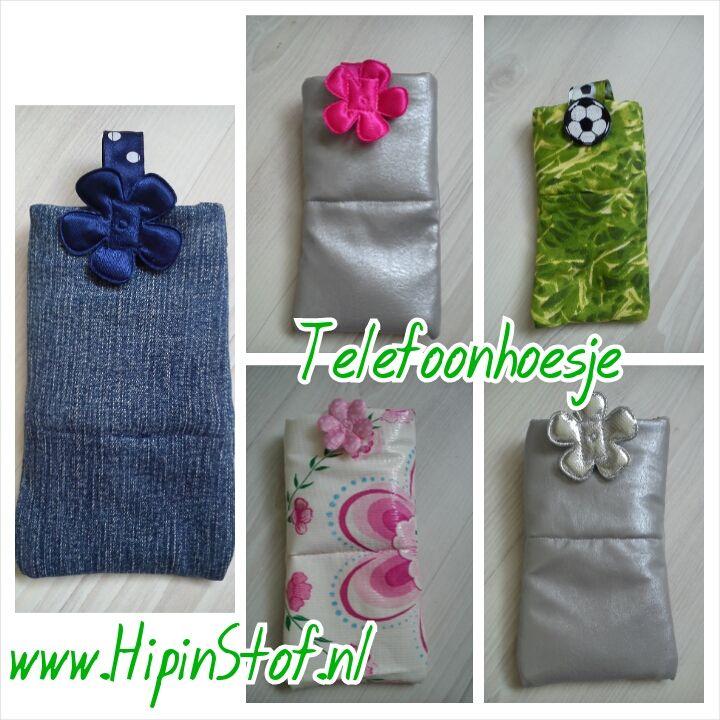 Telefoonhoesje: blauw, zilver, bloemen, gras, voetbal, op maat gemaakt €8,00