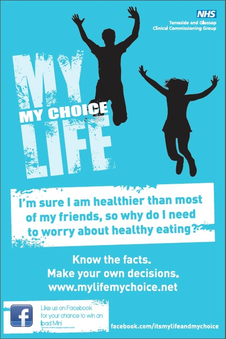 My Life My Choice healthy eating poster