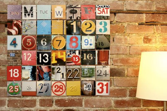 Use your camera and easy plastic clips to create a perpetual photo wall calendar--Photojojo