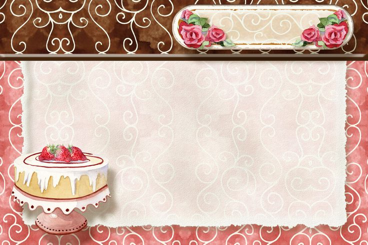 Dessert pink swirl recipe card