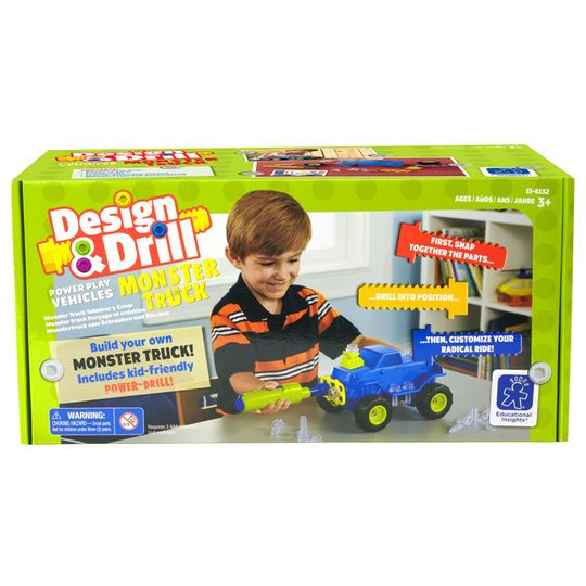 Design and Drill Power Play Vehicles Monster Truck