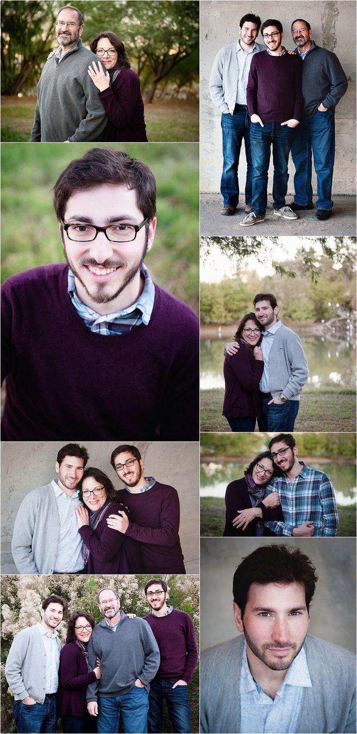 Family Portrait mother and sons, father and sons, Family with Adult Children