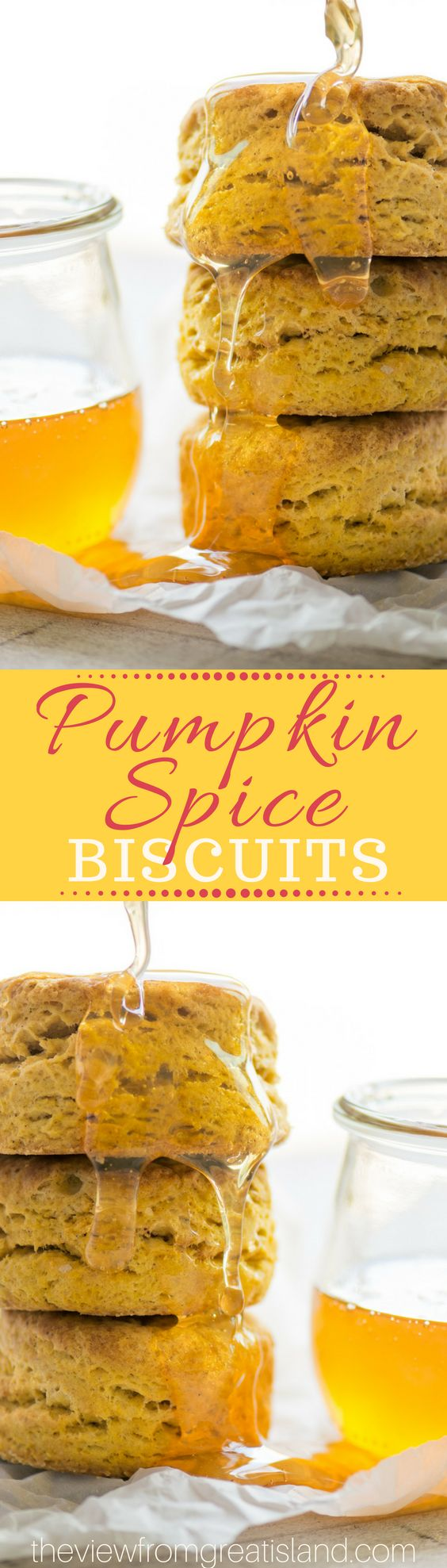 Pumpkin Spice Biscuits ~ these are the stuff pumpkin lovers' dreams are made of...tall, golden, flaky biscuits enriched with pumpkin puree and a hint ofa Fall spices. #bestbiscuits #pumpkinbiscuits #pumpkinbread #fallbread #Thanksgiving #buttermilkbiscuits #quickbread #Easybiscuits