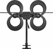 "Antennas Direct ClearStream 4MAX Indoor/Outdoor HDTV Antenna: Compatible with most HDTVs; receives UHF and VHF signals; up to 70.2-mile reception range.; 11 dBi maximum gain; 20"" J-Mount included"