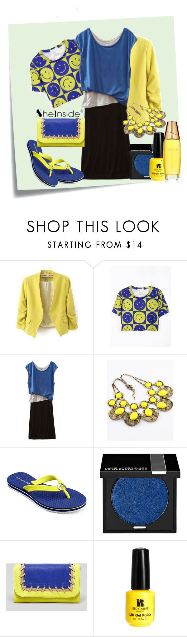 """Summerlaugh!"" by armband ❤ liked on Polyvore featuring Post-It, Retrò, Tommy Hilfiger, MAKE UP FOR EVER, Milly, Red Carpet Manicure and Estée Lauder"