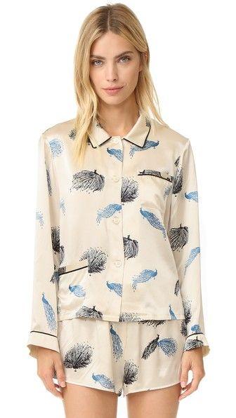 Morgan Lane Пижамные шорты Birds of Paradise Martine