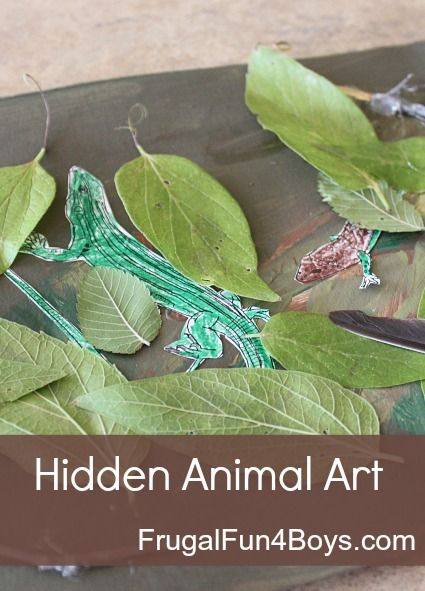 Hidden Animal Art - a fun way to learn about animal camouflage!
