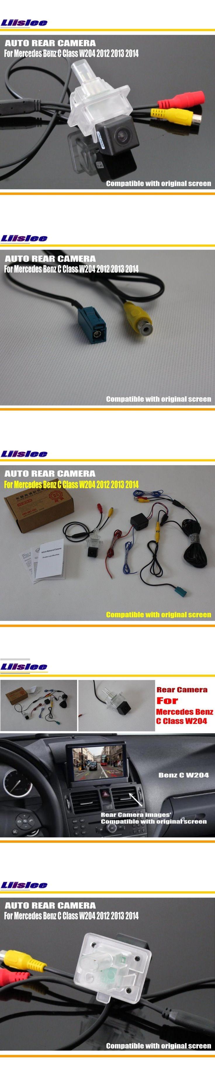 Rear View Camera / Back Up Reverse Camera / RCA & Original Screen Compatible / For Mercedes Benz C Class W204 2012 2013 2014