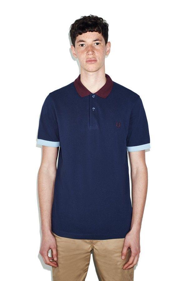 Colour Block Pique Shirt