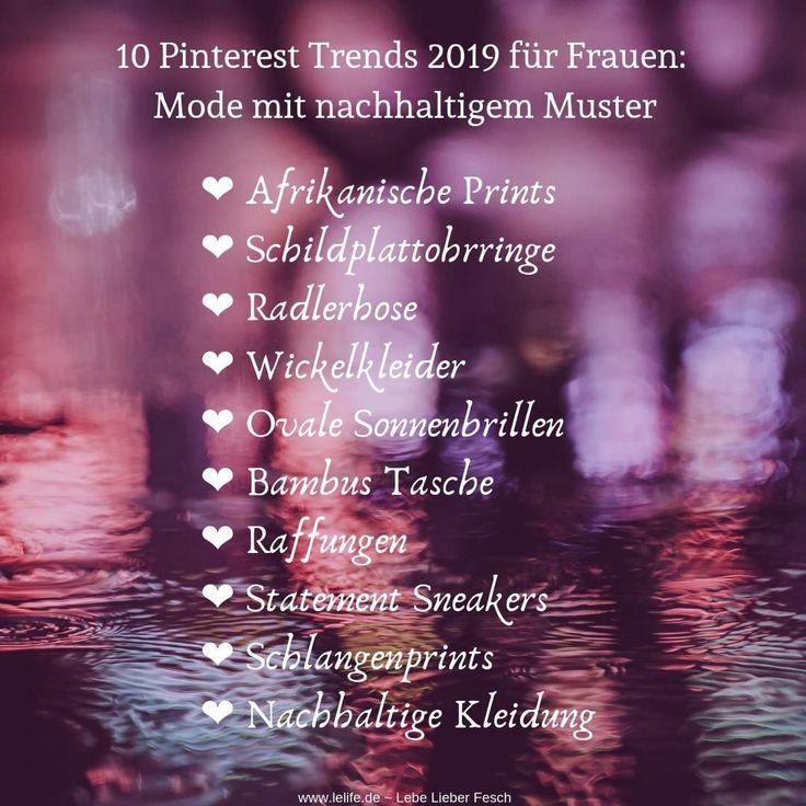 10 Pinterest Trends 2019 für Frauen: Mode mit nachhaltigem