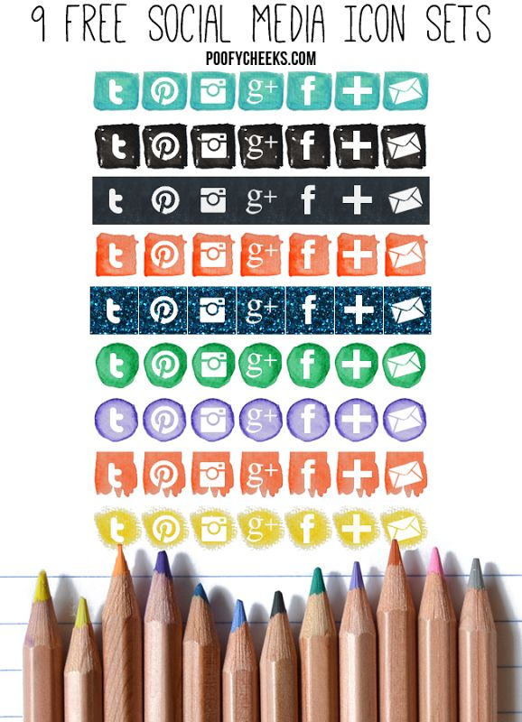 Back to Blog School: 9 Free Social Media Icon Sets