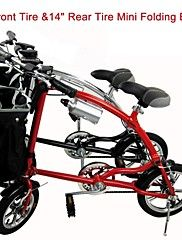 """frontal mini bici plegable ciudad sulida ™ 12 """"&14 """"bicicleta de aluminio rotura de disco de aleación de carretera neumático trasero 5 radios"""