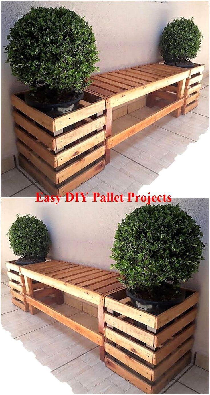 Mit Diy Ideen Holzpaletten In 2020 Diy Garden Furniture Pallet Patio Furniture Pallet Garden Furniture