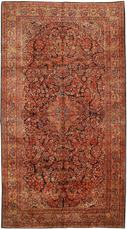 Antique Sarouk Persian Rug 43583