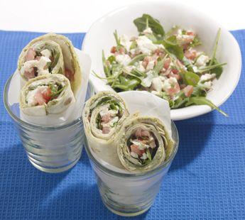 Italiaanse saladewraps met kipfilet en mozzarella - Recept - Jumbo Supermarkten