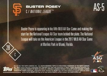 2017 Topps Now All-Star Game - National League #AS-5 Buster Posey Back