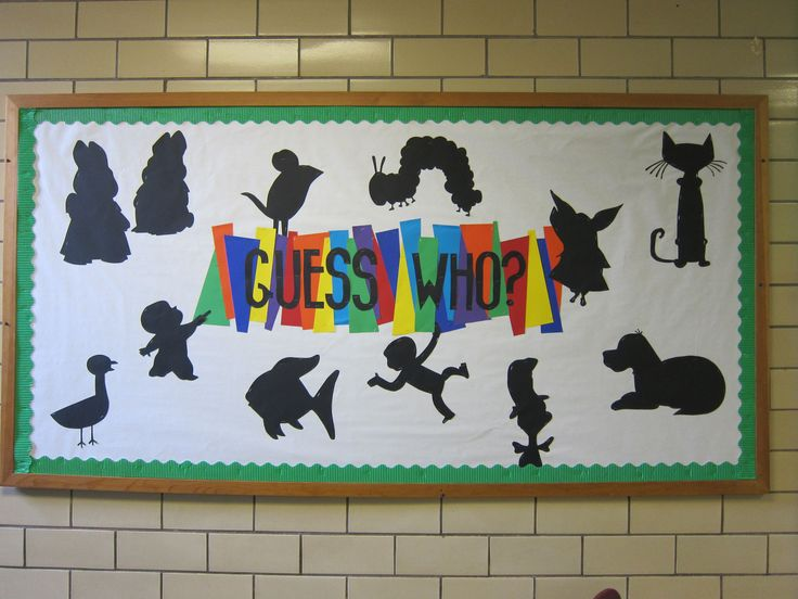Guess Who? bulletin board Children's book characters