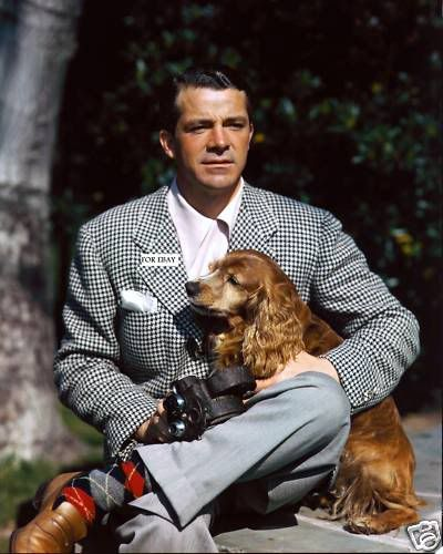 Actor Dana Andrews and his dog(1955)