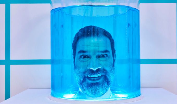 Look who's guarding the Crystal Maze!   Adam Buxton and Jessica Hynes make cameos