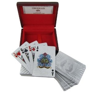 Playing Cards Deck in 999.9 Silver Plating Unique Father Gift from India (Misc.)  http://documentaries.me.uk/other.php?p=B0073DCXV6  B0073DCXV6
