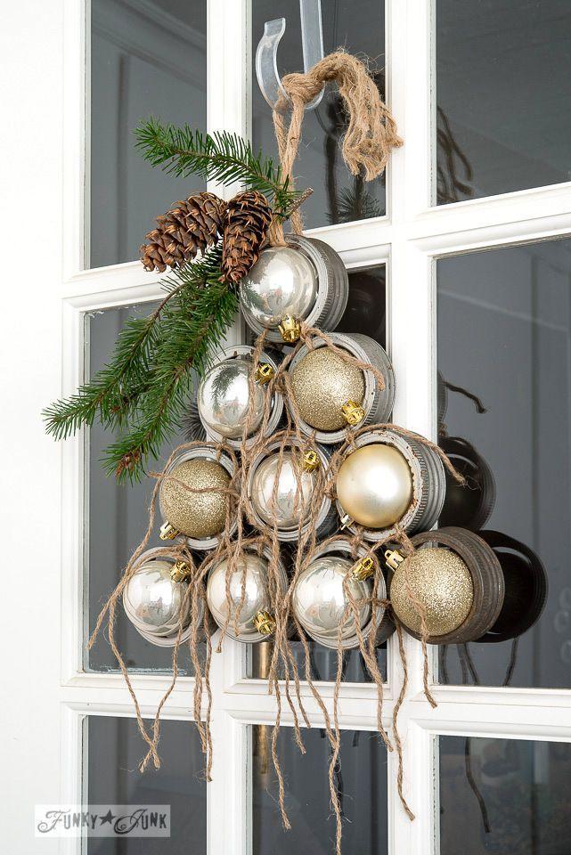 Mason Jar Lid Christmas Tree Wreath