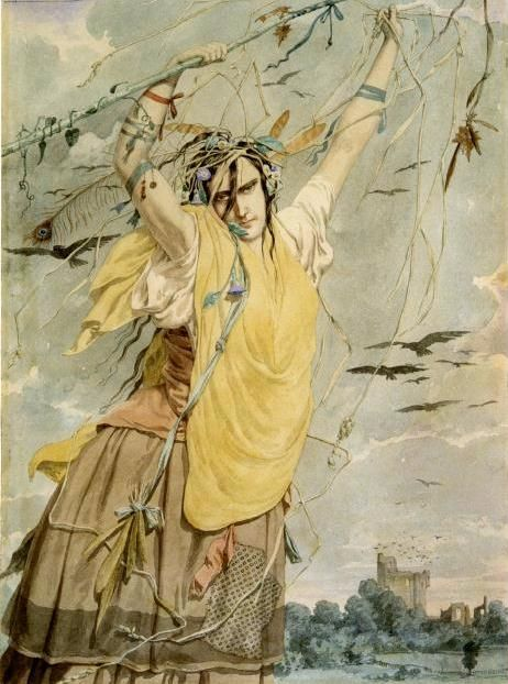 Richard Dadd: Sketch of an Idea for Crazy Jane, 1855.