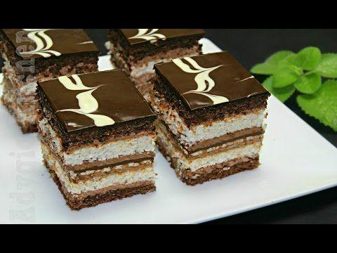 Prajitura de vis cu nuca si ciocolata   Adygio Kitchen - YouTube