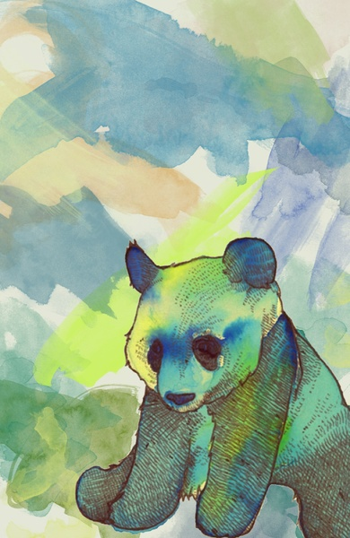 Panda Art Print by Alyssa Wodabek | Society6