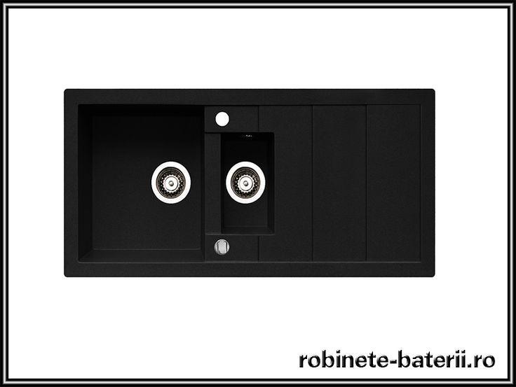 Chiuveta bucatarie granit negru Studio 100 cm