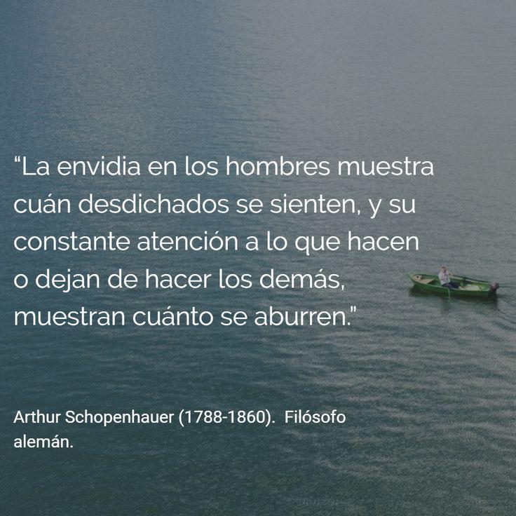 Arthur Schopenhauer (1788-1860). Filósofo alemán. #citas #frases