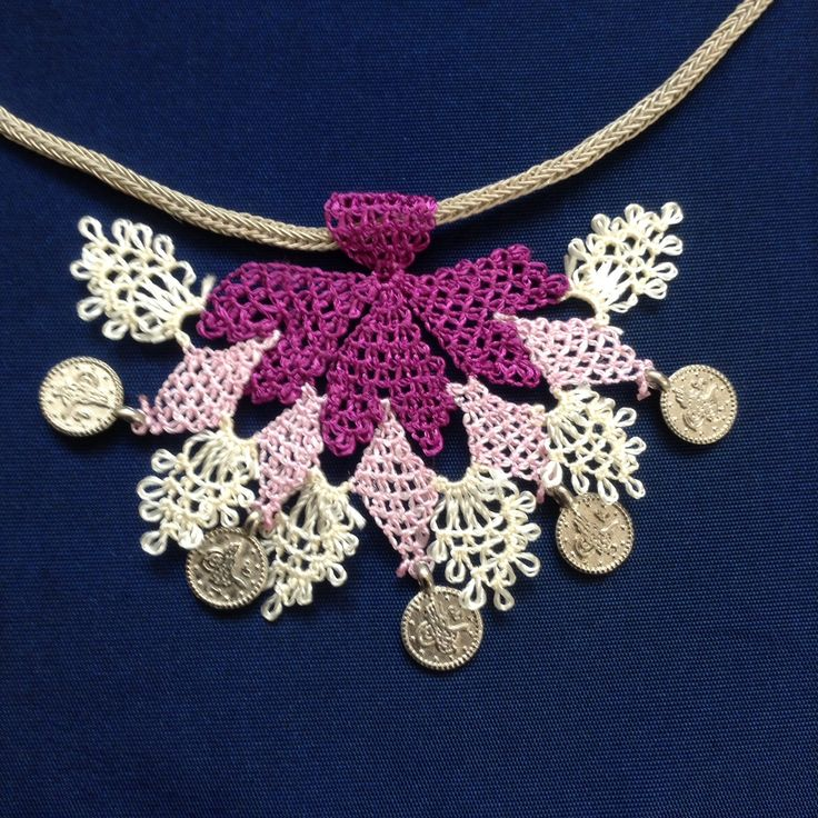 needle lace#necklace#iğne oyası#efe