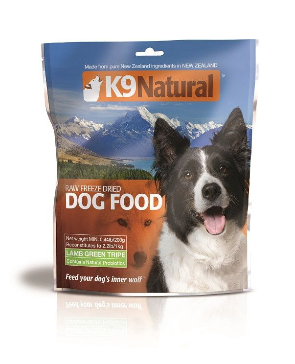 K9 Naturals Freeze Dried Lamb Green Tripe .44lb