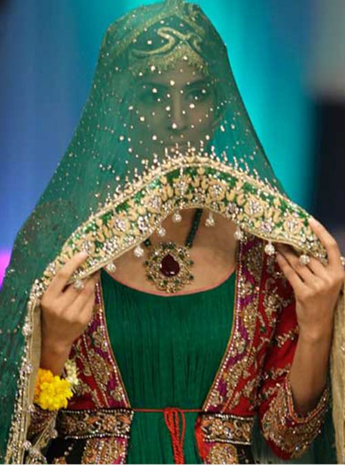 Indian couture bridal veil