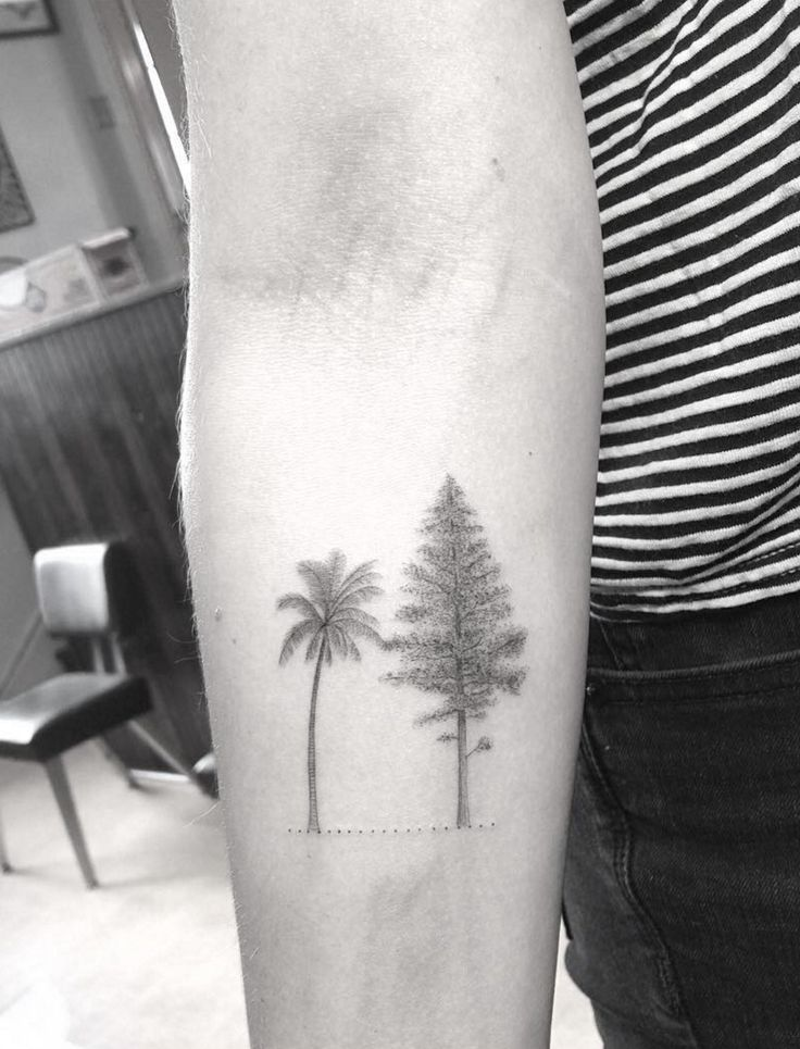 Dr. Woo Tattoo Artist | Half Needle Tattoo | Trees
