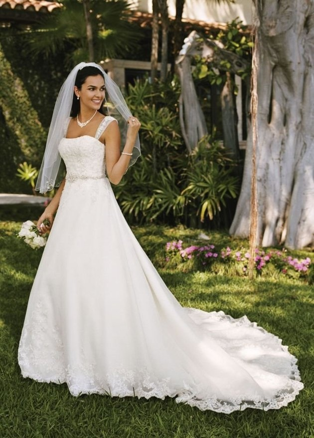23 best david 39 s bridal images on pinterest short wedding for David s bridal princess wedding dresses
