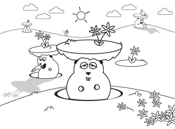 10 Best Groundhog Day Coloring Page Images On Pinterest