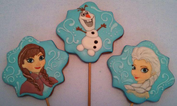 Прянички Олаф, Эльза, Анна (Frozen) пряники холодное сердце