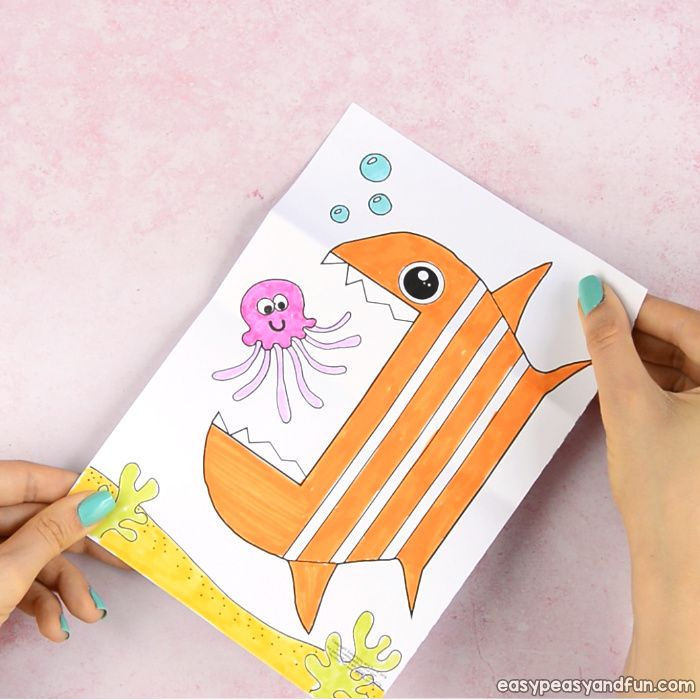 Surprise Big Mouth Fish Printable Paper fish Open mouth