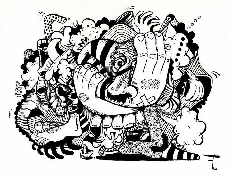 Oeuvre originale - Titre du dessin : LA DÉCOMPRESSION