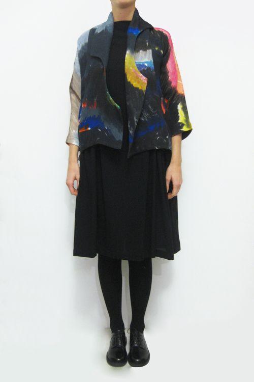 Daniela Gregis short scialle mezza luna coat
