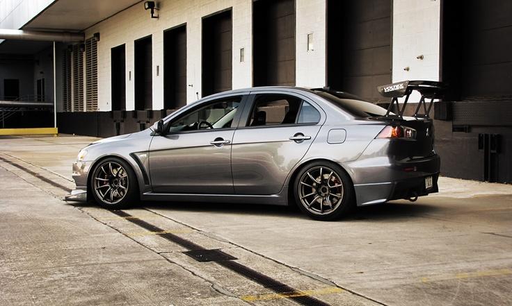 Evo X also known as Mitsubishi Lancer Evolution 10
