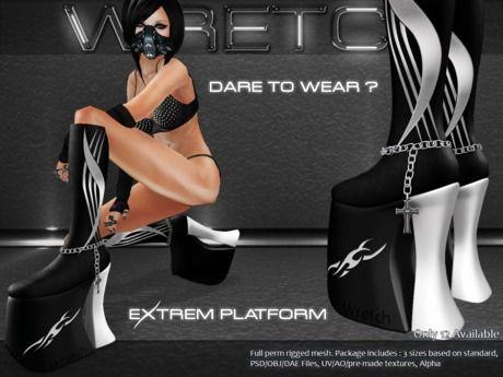 :: Wretch :: Extreme Platform Boots Semi Exclusive