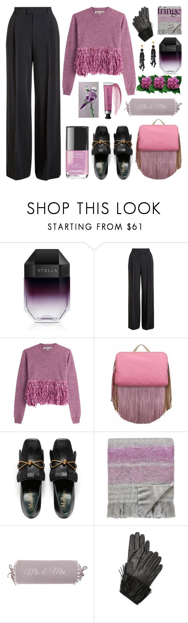 """""""Shimmy Shimmy: Fringe"""" by grozdana-v ❤ liked on Polyvore featuring STELLA McCARTNEY, RED Valentino, McQ by Alexander McQueen, The Volon, SANDERSON, Diane Von Furstenberg, Lizzie Fortunato and fringe"""