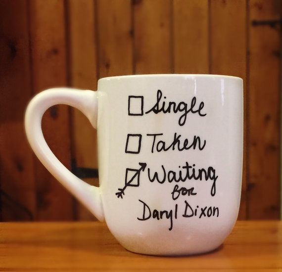 The Walking Dead ... mug ... single - taken - waiting for Daryl Dixon